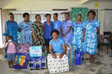 Members of the PWMU in Port Vila with the donated supplies.