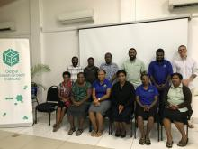 Workshop participants from the Ministry of Climate Change