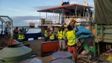 NDMO team continue to load ships with relief supplies in Port Vila this week.